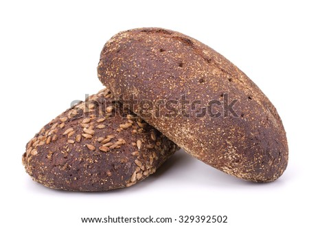 Rye bread isolated on white background - stock photo