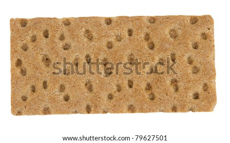 Rye Crispbread isolated on  white background  \ Top view Rye crisp - stock photo