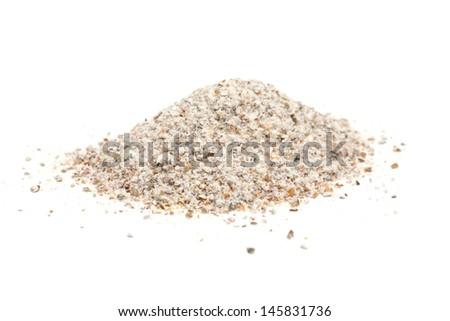 rye flour isolated on white background - stock photo