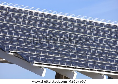 S lot of sunshine to the solar panels are working well - stock photo
