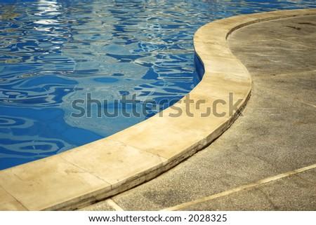 S shaped pool border - stock photo