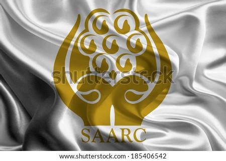 SAARC Flag - stock photo