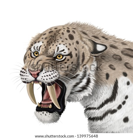 Sabertoothed tiger stock illustration 139975648 shutterstock saber toothed tiger ccuart Image collections