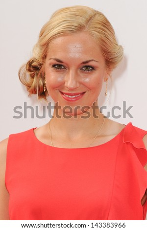 Sabine Lisicki arriving for the WTA Pre-Wimbledon Party 2013 at the Kensington Roof Gardens, London. 20/06/2013 - stock photo