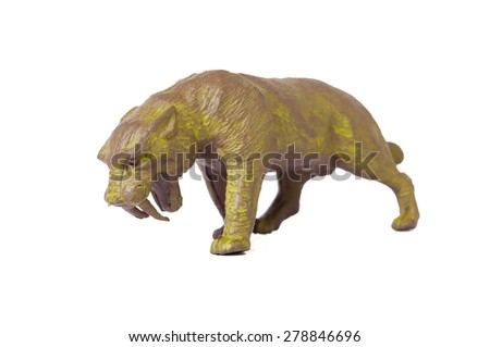 Sabre Toothed Tiger Toy - stock photo