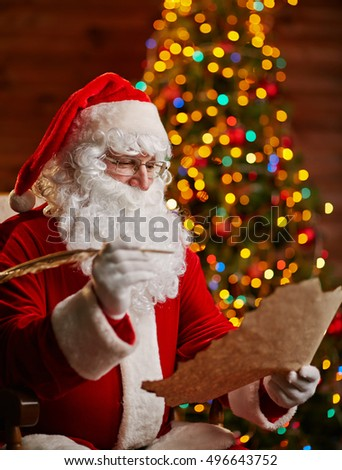 Sabta Claus with letter