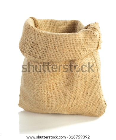 sack bag isolated on white background - stock photo