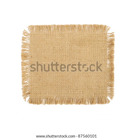 Sackcloth background texture - stock photo