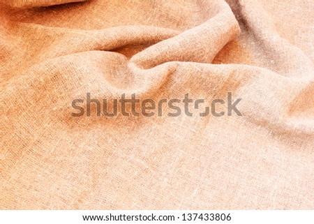 sackcloth fabric background - stock photo
