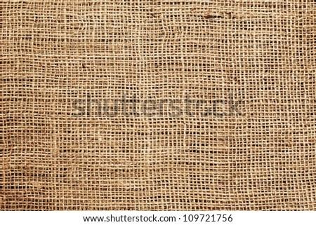 Sackcloth or burlap or sacking background. High quality texture - stock photo