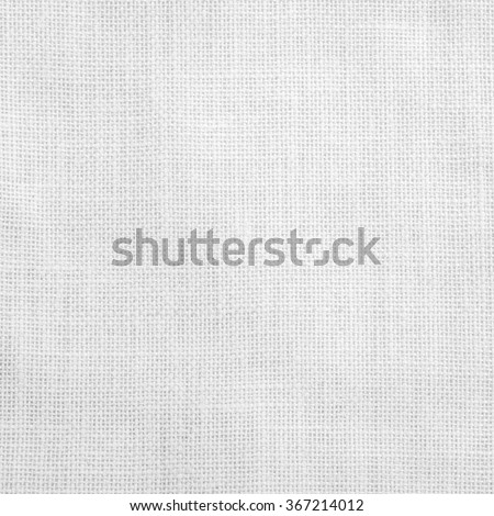 Sackcloth woven texture pattern background in light white grey gray color tone: Eco friendly raw organic flax sack cloth fabric textile backdrop: Bag rope thread detailed textured burlap canvas  - stock photo
