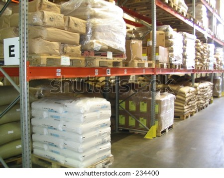 sacks with product - stock photo