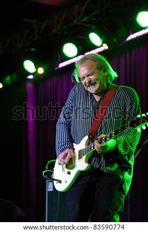SACRAMENTO, CA - AUG 26: Jack Hues of Wang Chung performs at Thunder Valley Casino in Lincoln, California on August 26th, 2011