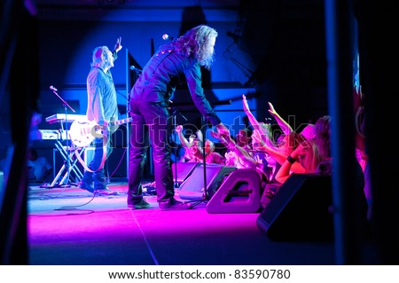 SACRAMENTO, CA - AUG 26: Wang Chung performs at Thunder Valley Casino in Lincoln, California on August 26th, 2011