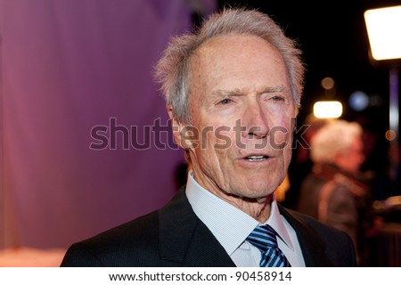SACRAMENTO, CA - DEC 8: Clint Eastwood arrives at the California Hall of Fame ceremonies at the Sacramento Memorial Auditorium in Sacramento, California on December 8, 2011
