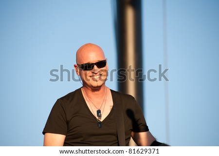SACRAMENTO, CA - JULY 24: Jimmy Stafford with Train performs at Thunder Valley Casino and Resort in Lincoln, California on July 24th, 2011