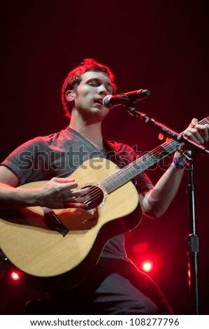 SACRAMENTO, CA - JULY 21: Winner of American Idol Phil Phillips performs in American Idol Live Tour 2012 at Power Balance Pavilion in Sacramento, California on July 21, 2012