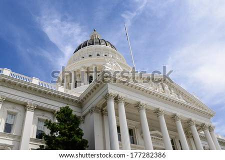 Sacramento Capitol Building of California - stock photo