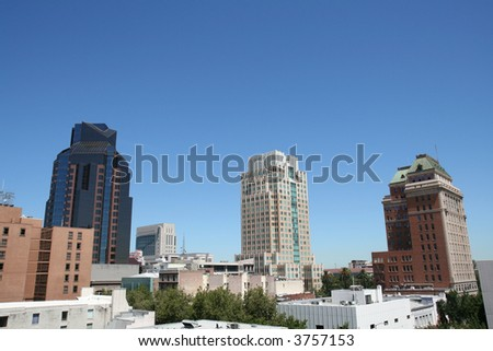 Sacramento High-rises - stock photo