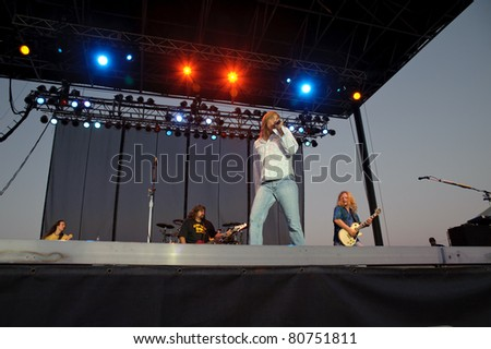 SACRAMENTO - JULY 9: Tesla performs at Thunder Valley Casino and Resort in Sacramento, California on July 9, 2011