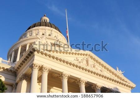 Sacramento, United States - California State Capitol building. - stock photo