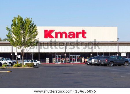 SACRAMENTO, USA - SEPTEMBER 13: Kmart store entrance on September 13, 2013 in Sacramento, California. Kmart is the third largest discount store chain in the world