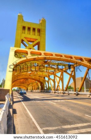 Sacramento Walks, California shots, USA in june - stock photo