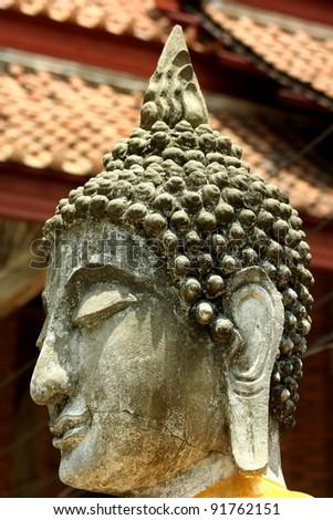 Sacred Buddha in Ayutthaya, Thailand - stock photo
