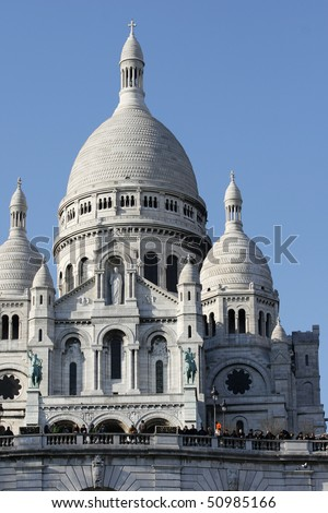 Sacred Heart Cathedral,Paris - stock photo
