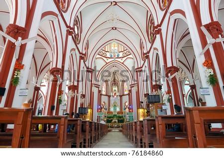 sacred heart church at pondicherry india - stock photo