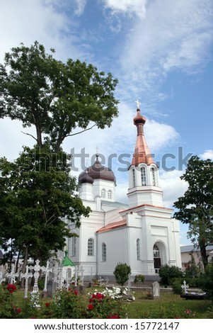 Sacred Ilya's church in Vasknarva, Estonia