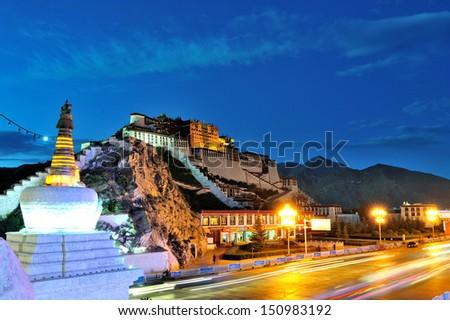 Sacred Potala Palace  - stock photo