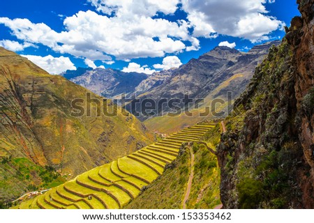 Sacred Valley of the Incas, Peru, Latin America - stock photo
