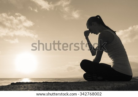 Sad and depressed woman.  - stock photo