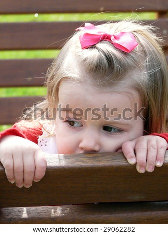 sad baby - stock photo