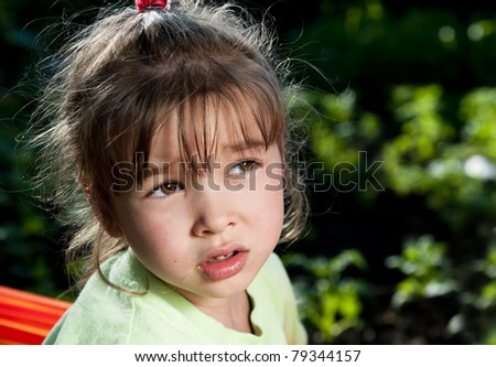 Sad brunette girl - stock photo