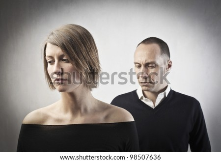Sad couple - stock photo