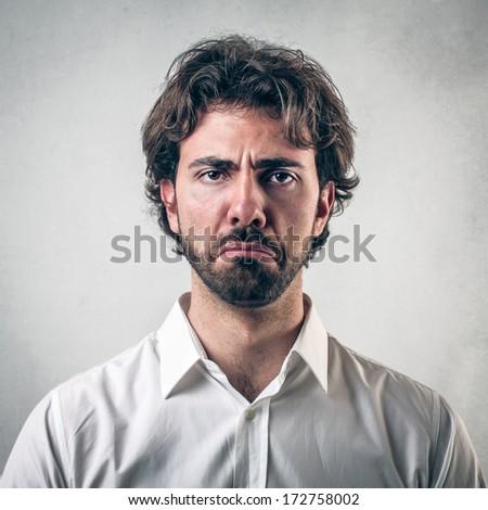 sad face - stock photo