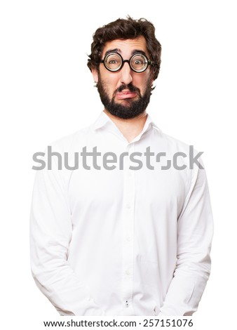 sad fool man - stock photo