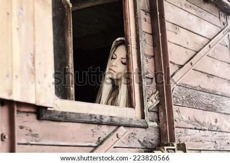 Sad girl - stock photo