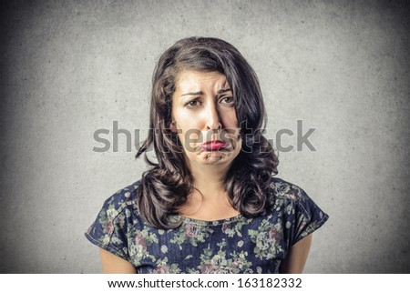Sad Lady - stock photo