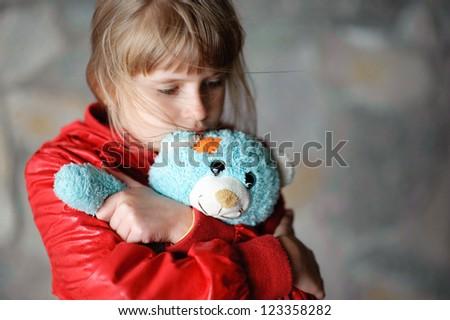 sad little girl - stock photo