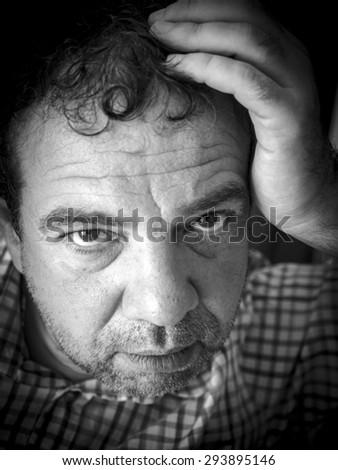 Sad man - stock photo