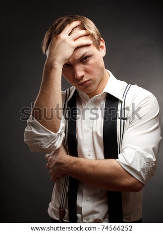 Sad man - stock photo