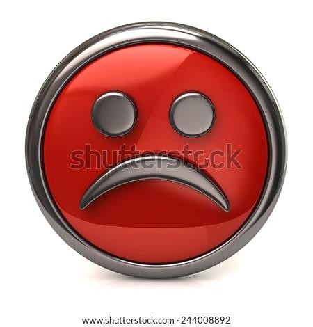 Sad red button - stock photo