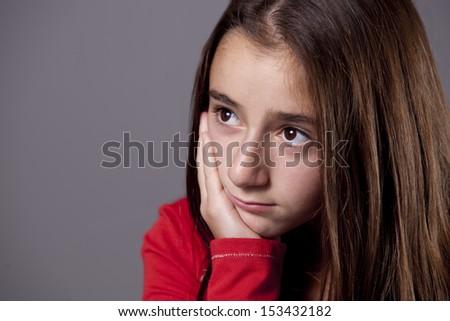 Sad South African Teenage Girl - stock photo