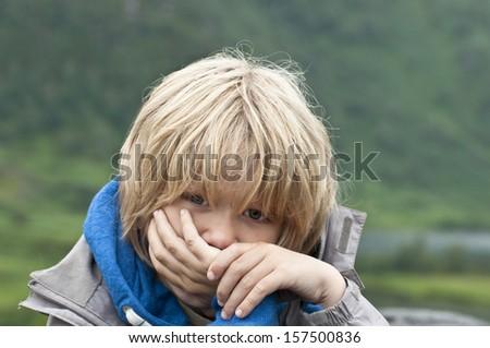 Sad victim of bullying - stock photo