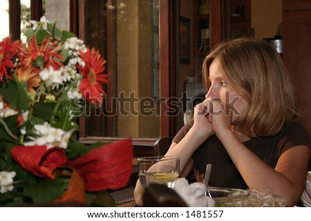 Sad Woman near window