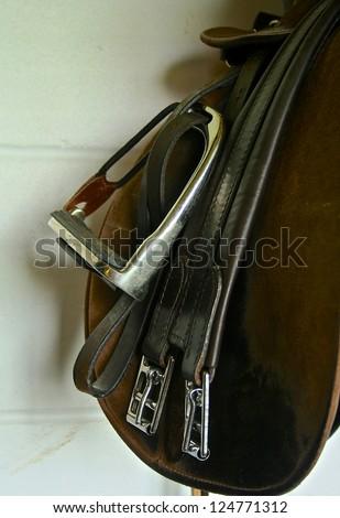 saddle - stock photo
