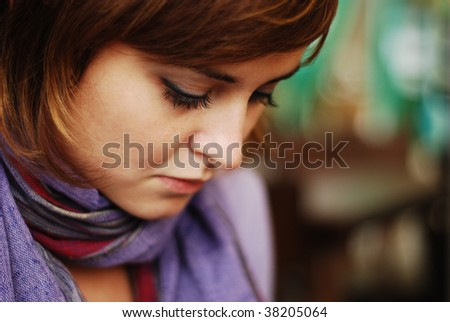 sadness - stock photo